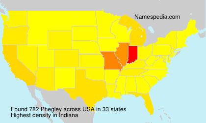 Surname Phegley in USA
