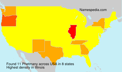 Surname Phetmany in USA