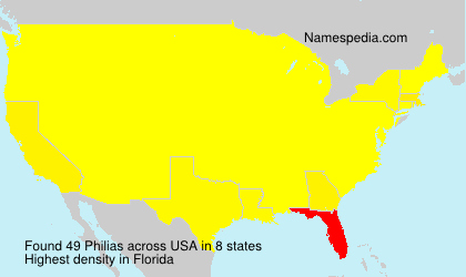 Surname Philias in USA