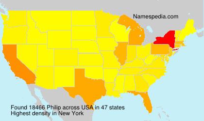 Surname Philip in USA