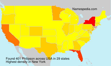 Surname Philipson in USA