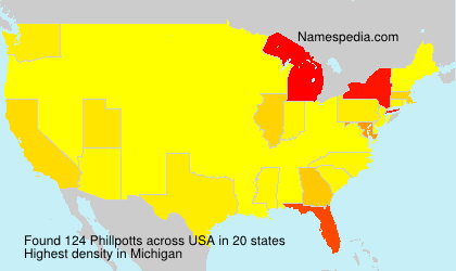 Surname Phillpotts in USA