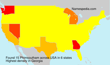 Surname Phimsoutham in USA