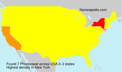 Surname Phoolsawat in USA