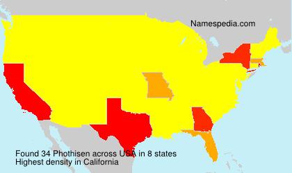 Surname Phothisen in USA