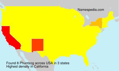Familiennamen Phuntsog - USA