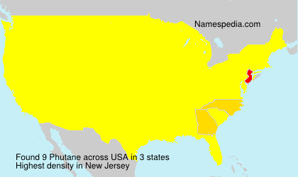 Surname Phutane in USA