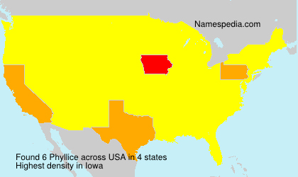 Surname Phyllice in USA