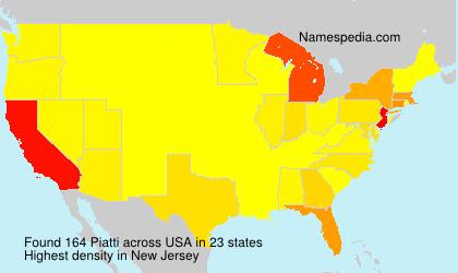 Surname Piatti in USA