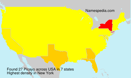 Familiennamen Picayo - USA
