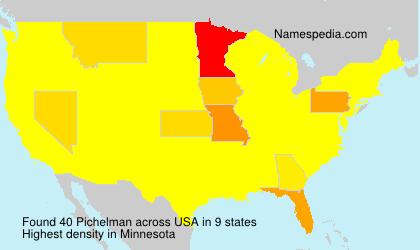 Surname Pichelman in USA