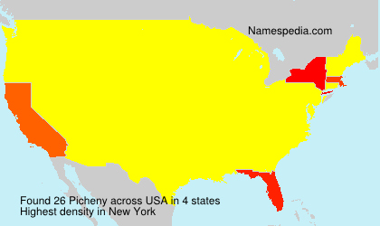 Surname Picheny in USA