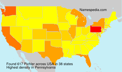 Surname Pichler in USA