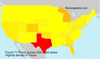 Familiennamen Pichot - USA