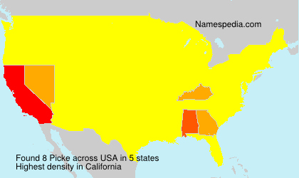 Surname Picke in USA