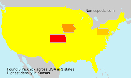 Surname Picknick in USA