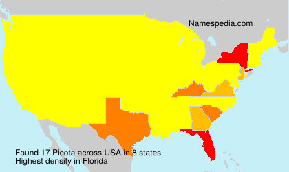 Surname Picota in USA