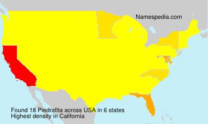 Surname Piedrafita in USA