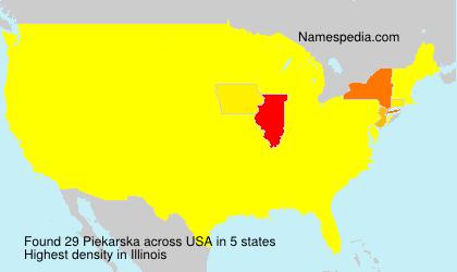Surname Piekarska in USA