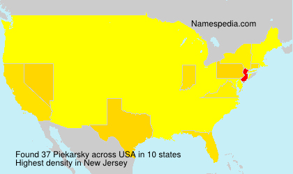 Surname Piekarsky in USA