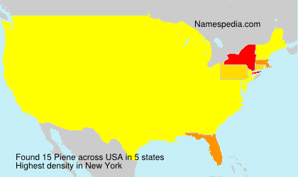Surname Piene in USA
