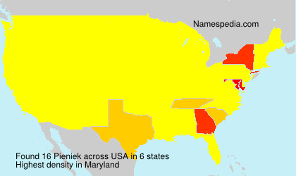 Surname Pieniek in USA