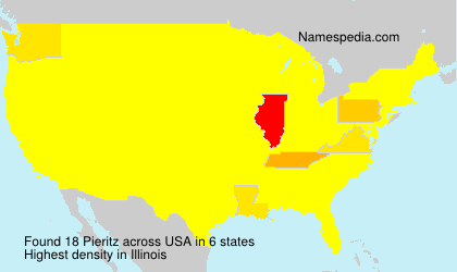 Surname Pieritz in USA