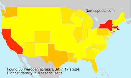 Surname Pieropan in USA