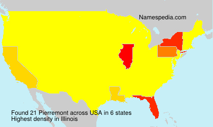 Surname Pierremont in USA