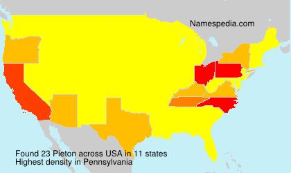 Surname Pieton in USA
