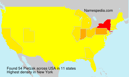 Surname Pietzak in USA