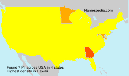 Surname Pii in USA