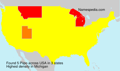 Surname Piipo in USA