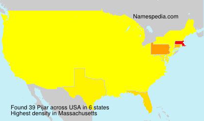 Surname Pijar in USA