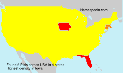 Surname Pikis in USA