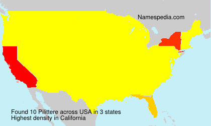 Surname Pilittere in USA