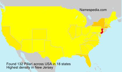 Familiennamen Pillari - USA