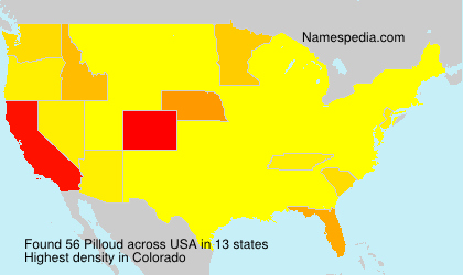 Familiennamen Pilloud - USA