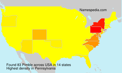 Surname Pimble in USA
