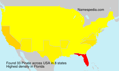 Surname Pinate in USA