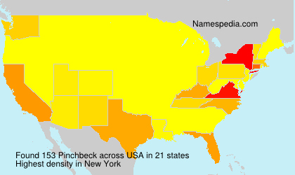Surname Pinchbeck in USA