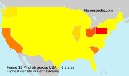 Surname Pindroh in USA