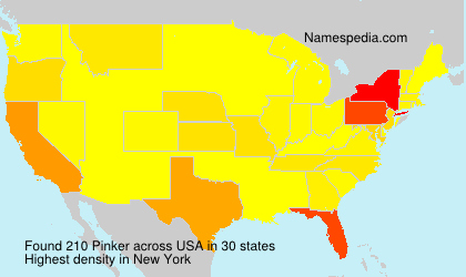 Surname Pinker in USA