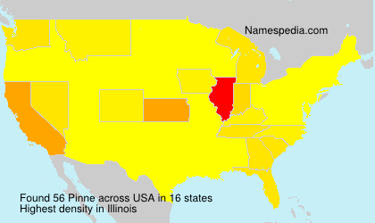 Surname Pinne in USA