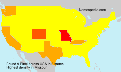 Surname Pinni in USA