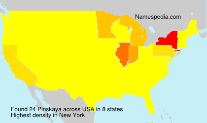 Surname Pinskaya in USA