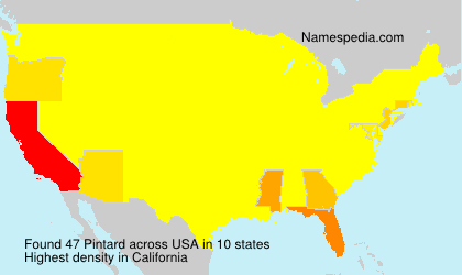 Surname Pintard in USA