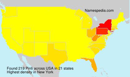 Surname Pinti in USA