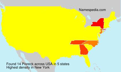 Surname Pioreck in USA