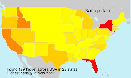 Surname Piquet in USA